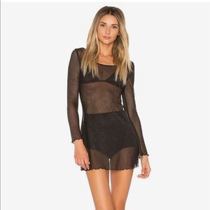 For love and lemons sparkle mesh nightgown dress